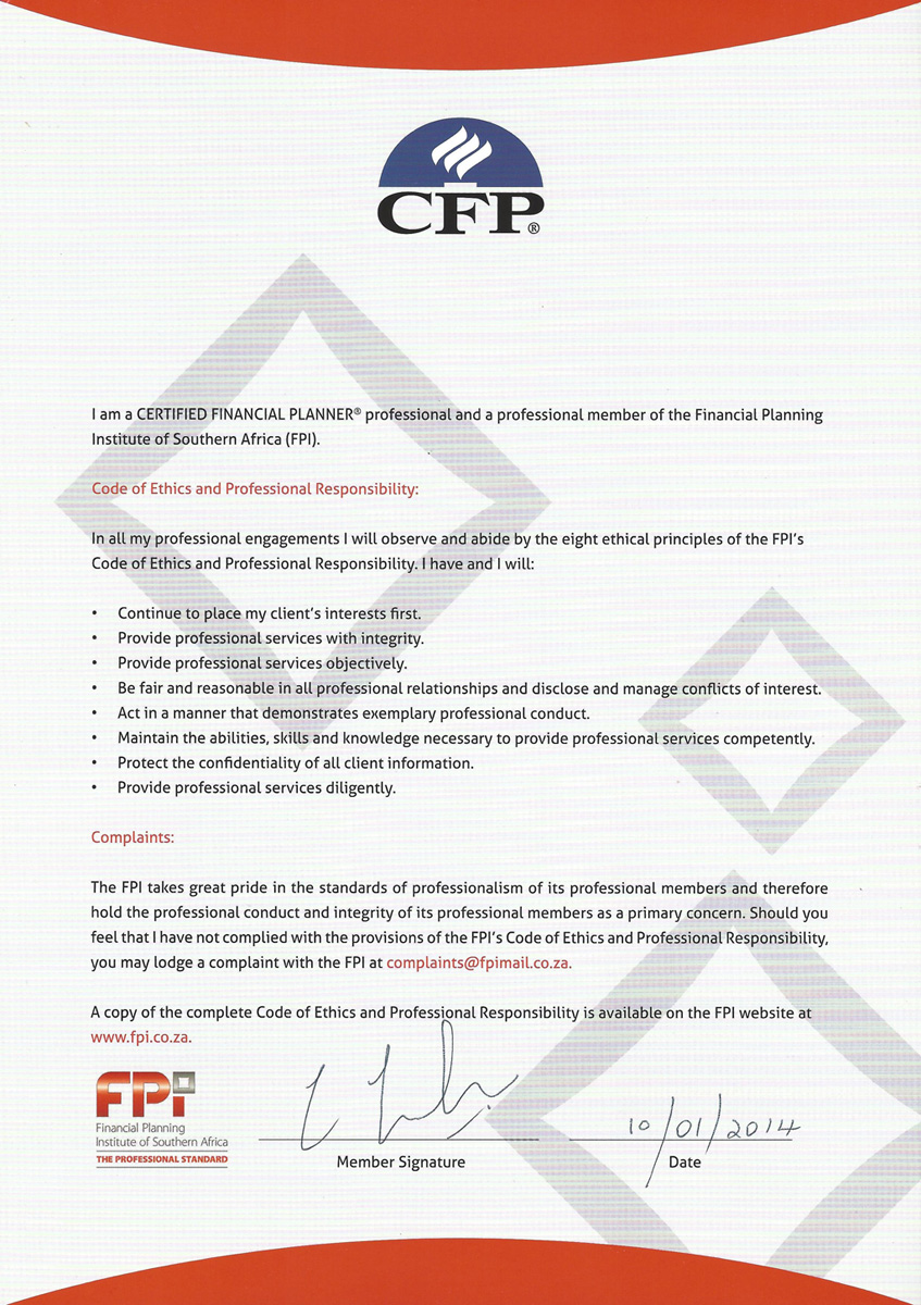 Fingroup and associates are independent fee based financial cfp certification fpi pledge xflitez Choice Image